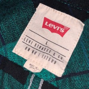Levi's Plaid Flannel Shirt  (Youth Large?)